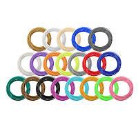 20 цветов / упаковка 5/10 м Длина за цвет ABS 3D-печать Ручка Нить для 1,75 мм 0,4 мм сопла