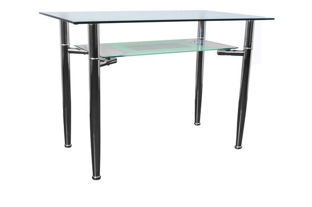 Стол обеденный С-3 Хром закалённое стекло (1100х650х750см.).