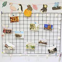Многофункциональная металлическая сетка Сетка панели Декорации Фото Стены держателя Art Дисплей