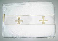 Полотенце крестильное махровое 50х100cм