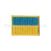 """Нашивка шеврон """"Флаг Украины"""" 40х28 мм клей"""