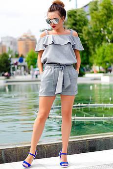 Літні жіночі костюми великого розміру Симона сірий