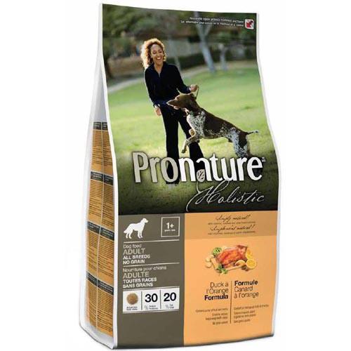 Сухой корм для взрослых собак Pronature Holistic Adult с уткой и апельсинами без злаков 340 гр