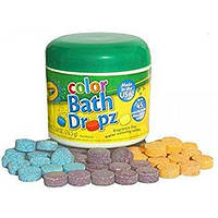 Цветные таблетки для купания в ванной Crayola Bath Dropz (60 шт.), США