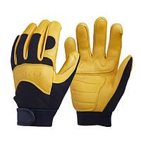 OZERO Deerskin Men's Work Driver Перчатки Кожаная одежда для безопасности Работники безопасности Рабочая перчатка