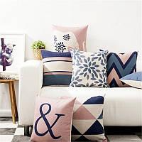 Декоративная подушка для бровей Чехол Северный стиль Геометрическая хлопковая льняная подушка для дивана Домашний декор 1TopShop