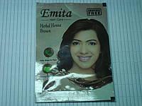 """Хна для окрашивания волос Эмита """"Emita"""", Коричневый (Brown) Индия"""