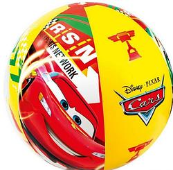 Мяч пляжный.Надувной пляжный мяч.Надувной детский  пляжный мяч INTEX.Мяч детский,Тачки.