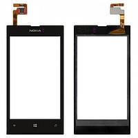Сенсор (тачскрин) для Nokia 520 Lumia/525 Lumia черный