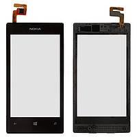 Сенсор (тачскрин) для Nokia 520 Lumia/525 Lumia и рамкой черный Оригинал