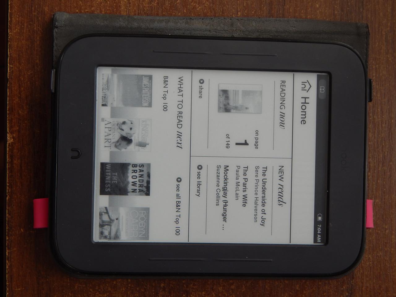 Электронная книга Barnes & Noble Nook The Simple Touch Reader BNRV300