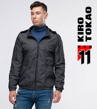 11 Kiro Tokao | Весенне-осенняя мужская ветровка 3353 темно-серая