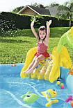 Игровой центр Bestway 53067 Морские жители 280 х 257 х 87 бассейн с горкой, фото 5