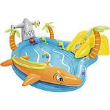 Игровой центр Bestway 53067 Морские жители 280 х 257 х 87 бассейн с горкой, фото 3