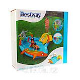 Игровой центр Bestway 53067 Морские жители 280 х 257 х 87 бассейн с горкой, фото 6