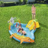 Игровой центр Bestway 53067 Морские жители 280 х 257 х 87 бассейн с горкой, фото 4