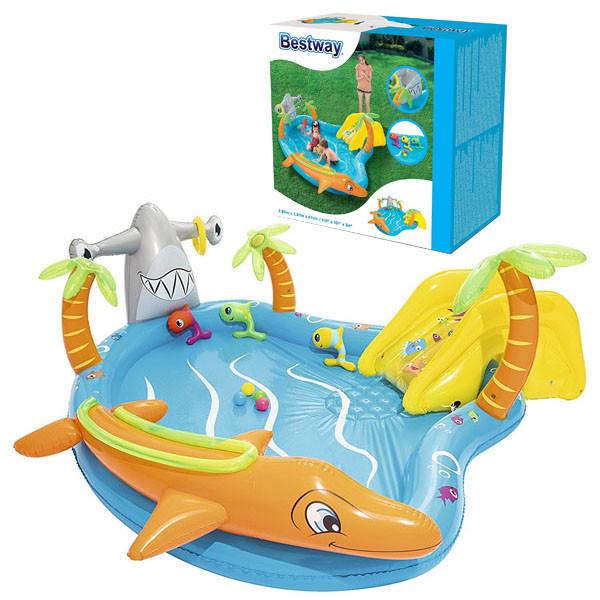 Игровой центр Bestway 53067 Морские жители 280 х 257 х 87 бассейн с горкой