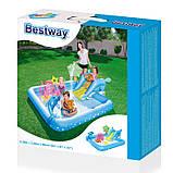 Игровой центр Bestway 53052 Аквариум 239 х 206 х 86 см, надувной бассейн с горкой и игрушками, фото 8