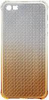 Чехол-накладка HOCO TPU cover Diamond series Gradient iPhone 5/5s/SE Yellow, фото 1