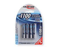 4шт аккумулятор мизинчик Ansmann AAA 1100 mAh