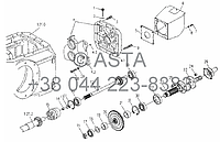 Коробка отбора мощности в сборе 720r/min на YTO X704, фото 1