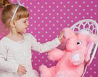 Плюшевый слонёнок (розовый) 55 см.