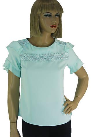 Нарядна  блузка з мереживом і рюшами Esay, фото 2