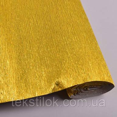 Креп папір металізована золото