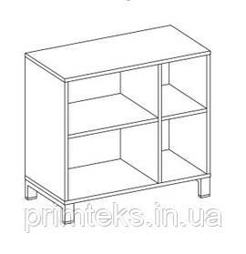 Шкаф низкий открытый  двухцветный Trio/ Quattro 800*400*750h