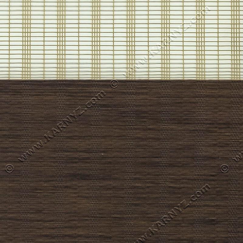 Рулонные шторы День-Ночь Индиго B-155 шоколад