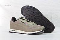 Кросівки чоловічі демісезонні, сітка Reebok Classic, оливкові