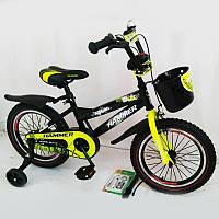 """Велосипед детский """"HAMMER-16"""" S600 черно-желтый"""
