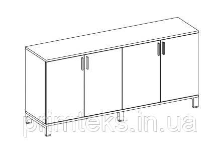 Шкаф низкий двойной закрытый двухцветный Trio/ Quattro 1600*400*750h