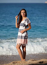 Пляжная туника Barine Cuba Lacivert-Kirmizi сине-красная