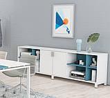 Шкаф низкий тройной двухцветный Trio/ Quattro 2400*400*750h, фото 2