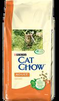 Корм для котов Cat Chow с курицей и индейкой 15кг