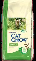 Cat Chow с кроликом и печенью 15кг