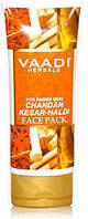 Маска для лица отбеливающая Шафран, Сандал Ваади 120 мл, Chandan Kesar Haldi Fairness Face Pack Vaadi