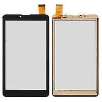 """Сенсорный экран (touchscreen) для Pixus Touch 7 3G, 7"""", 184-104 мм, 30 pin, емкостный, черный, оригинал"""
