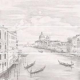 Панно Kerama Marazzi 75х75х9 Город на воде Venice, состоит из 3 частей 25х75 обрезной (размер каждой части) (12109R\3x\3F)