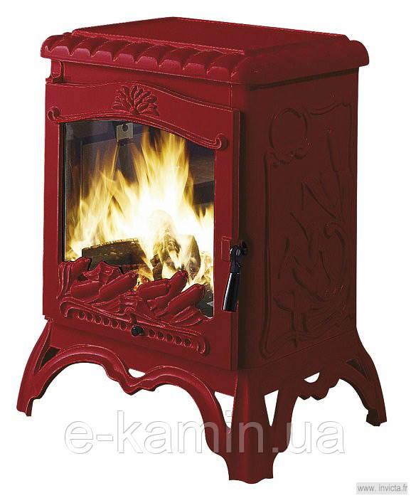 Печь-камин CHAMBORD красная эмаль Invicta