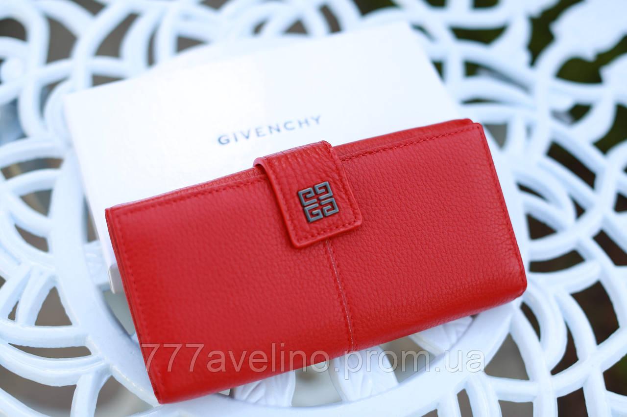 b29e8a3d1639 Кошелек женский брендовый Givenchy кожаный красный: купить в ...