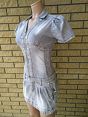 Платье летнее джинсовое стрейчевое реплика VERSACE, фото 2