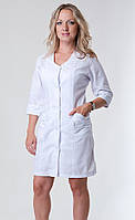 Медицинский женский халат белый батист 42-66р. Хелслайф, фото 1