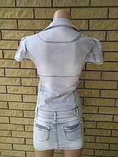 Платье летнее джинсовое стрейчевое реплика GUCCI, фото 3