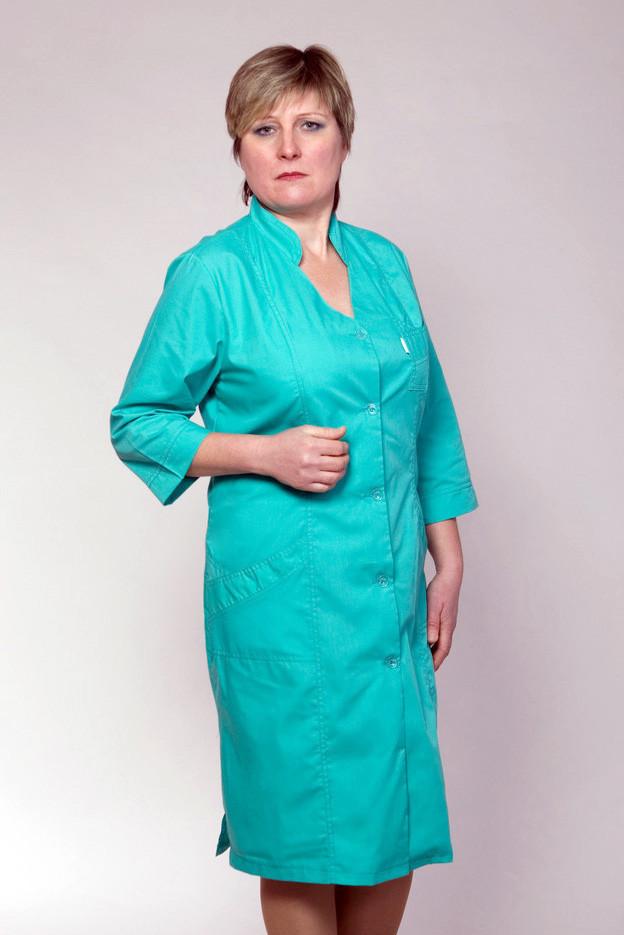 Медицинский женский халат батист 42-66р. Хелслайф