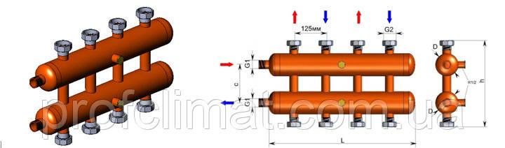 Коллектор OKC-P-6-4-HР,101 кВт - Профклимат в Днепре