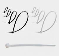 Стяжка кабельная монтажная 2.5х200 мм белая