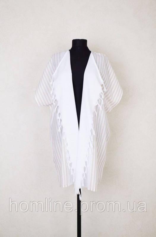 Пляжна туніка Barine White Kimono Beige бежевий