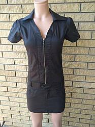Платье летнее джинсовое стрейчевое реплика GUCCI